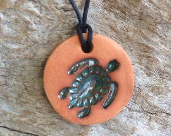 Diffuser Necklace | Car Diffuser | Essential Oil Diffuser | Clay Diffuser | Aromatherapy | Sea Turtle