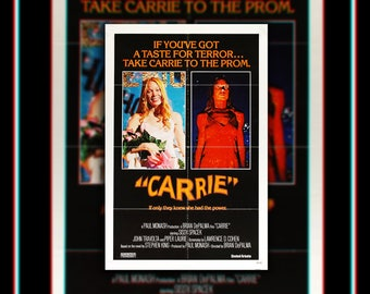 CARRIE (1976) Brian De Palma Very Rare 27x40 Fold US One Sheet Movie Poster Original Vintage Collectible