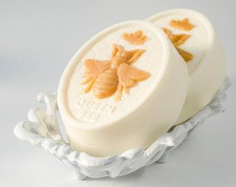 Queen Bee goats milk soap, honey bee soap, honey scented, Birthday Gift, natural glycerin soap