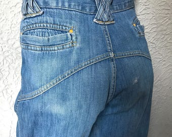 70's Vintage Hippie Deadhead Customized Bell-bottom Jeans 34 X 37