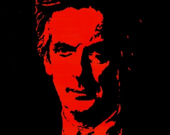 Peter Capaldi, the twelfth Doctor Who: art print of original painting by Jonathan Ash A5 A4 A3