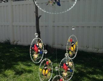 Glass Wind Chimes, Garden Decor