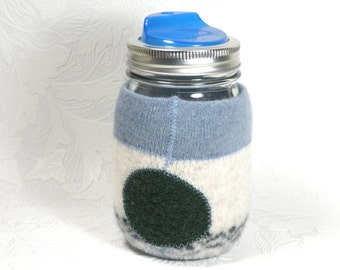 Jar Cozy - pint size - pokadot - white