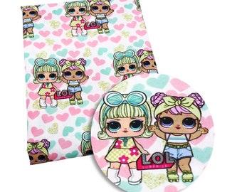 surprise pastel  girl  fabric
