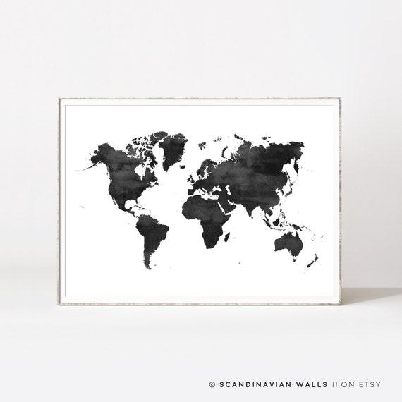 Weltkarte Poster Wasser-Farbe-Weltkarte Karte drucken