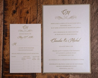 Gold Invitation, Gold Wedding Invitation, Gold Invitations, Gold Wedding Invitations, Classy Invitation, Classy Wedding Invitations