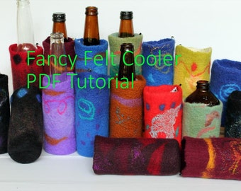 DYI Tutorial Felted Drink Cooler