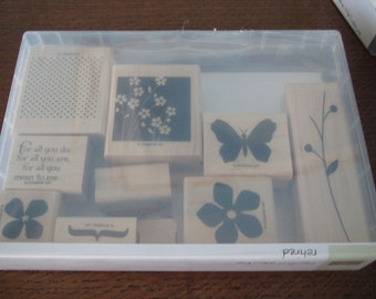 Used Like New! For All You Do Stampin' Up! retired rubber stamp set (10)