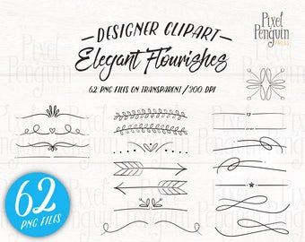 Hand Drawn Wedding Clip Art, Doodle Text Divider, Hand Drawn Clipart Arrow, Page Divider, Doodle Clipart, Digital Divider, Flourish Stamp
