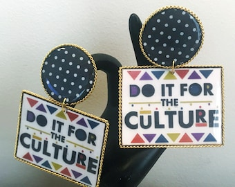 Do It For the Culture, Earcandy, Handmade Accessories, Funky Earrings, Statement Earrings, Chained Earrings