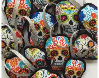 Day of the dead Christmas Ornaments (Pack of 3!!)