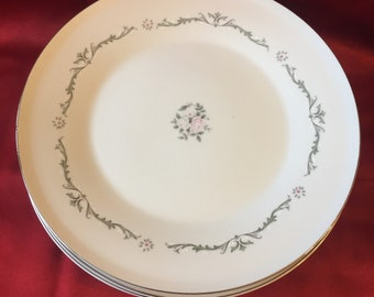 Vintage Signature Collection Dinner Plates Set of 4 Select Fine China Petite Bouquet Made in Japan