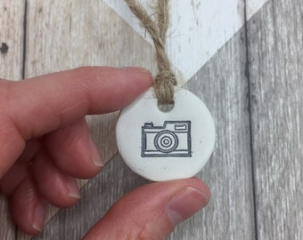 Photographer gift, photo gift, camera, clay tags, photography gift, gift tags, wedding tags, photography business, photo album.