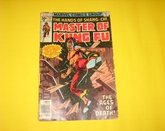 Vintage 1977 MASTER Of KUNG-FU Comic Book by Marvel Comics Group