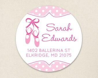 Ballet Address Labels / Ballet Shoe Address Labels / Dance Address Labels - Sheet of 24