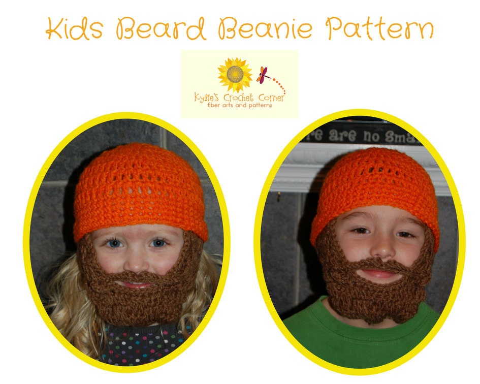 Teen Lumberjack Crochet Pattern Teen Beard Hat Crochet Pattern