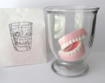 Denture Soap Set - Glycerin Soap - Scented with Peppermint Essential Oil  - Novelty - Gag Gift - Mothers Day - Fathers Day - Shaped Soap