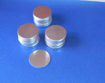 "1"" Aluminum blanks -  22 gauge  - Hand stamping blanks//metal blanks//stamping supplies//round blanks//silver blanks"
