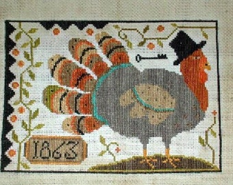 Thomas - Primitive cross stitch pattern - from Notforgotten Farm -
