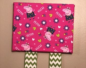 Peppa Pig inspired bow organizer
