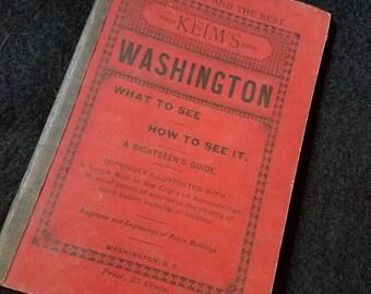 1889/Keim's/Washington DC/Sightseer Guide
