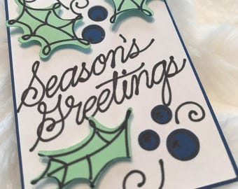 Seasons Greetings Gift Tag