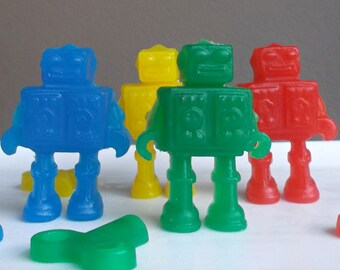Robot Party Favors - Robot Soap, Robot Birthday Party, Sci Fi Party, Outer Space Party, Robot Class Favors, Robot School Favors - Set of 10