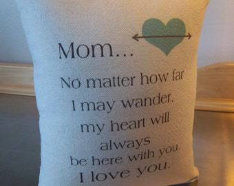 Mom gift Mother pillow mama throw pillow gift for mom mum cushion cotton canvas pillows handmade gifts love quote keepsake pillow gifts