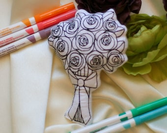 Bride Bouquet Color Pillow Wedding Activity for Kids Gifts for Wedding Party