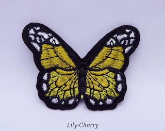 Patch Yellow Butterfly sewing x 1