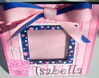 Picture Frame Birthday Cupcake Design  Custom Color Selection