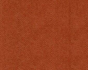 Penny Rug Flannels, Orange Herringbone Woolies 1841-M