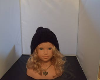 Hats, Hand Knit, Black hat, Handmade item, Gift ideas