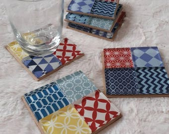 Scandinavian patterned coasters