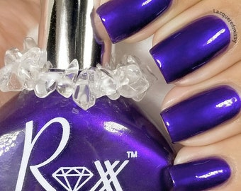 Amethyst Polish - Healing - The Sobriety Stone - Crystal Infused Nail Polish  Non-Toxic - Crystal Energy - Vegan