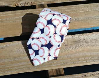 Baseball Necktie, Sports Necktie, Softball Necktie, Fun Necktie