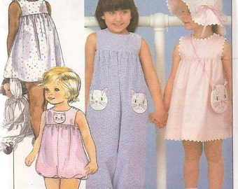 McCall's 8560 Size 2 Jumper Romper Hat Bag KITTY PURSE, TOO