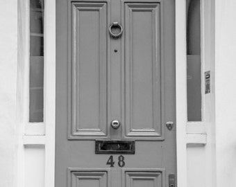 Love Door - London Photography - Chelsea - Valentine's Day Gift - Black and White