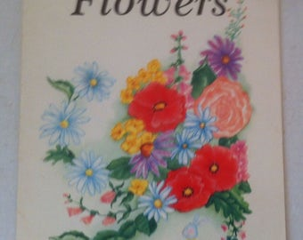 Vintage 1987 Book, How To Draw Flowers, Learn to Draw and Be an Artist Pretty Fast, Fun, Different, Hobby, Entertaining