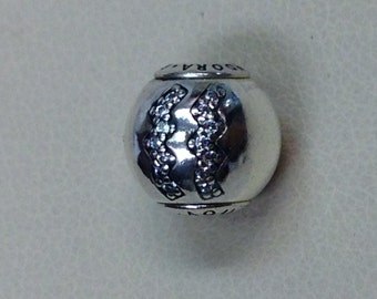 Authentic Pandora Essence Collection Silver Charm Aquarius #796032CZ