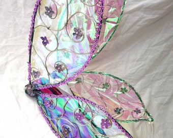 Iridescent led pixie wings