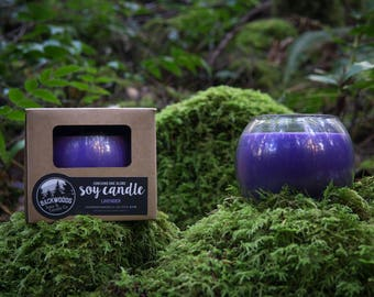 Lavender Globe Soy Candle