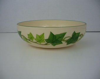 """Franciscan Pottery Bowl - Made in California Pottery Bowl - Franciscan Ware - 8"""" Bowl - Ivy Leaf Pattern"""