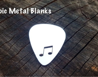 Aluminium Guitar Pick with Music Note Cut Out, Plectrum Blanks,Music,Jewelry Blanks, Stamping Blanks, Stamped Metal Blanks, Metal Stamping.