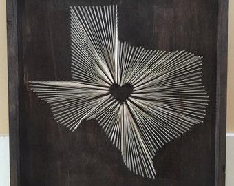 State String Art, Texas, Nail and String Art, TX, String Wall Art, Texas, hometown String Art, Home Decor, Wall Hangings, Holiday Gifts