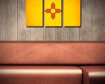 New Mexico Flag Triptych