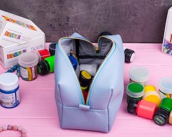 Makeup storage Makeup organizer Toiletry bag Leather makeup bag Leather cosmetic bag Cosmetic bag Makeup bag Bridesmaid case Bridesmaid gift