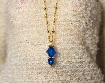 1/3 SD 1/4 MSD BJD Capri Blue Swarovski necklace