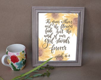 Isaiah 40:8 Print