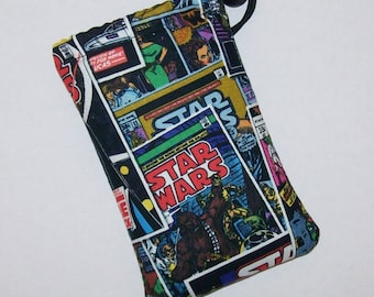 "Pipe Pouch, Pipe Bag, Star Wars Comic, Pipe Case, Padded Pouch, 420, Smoke Bag, Padded Bag, Nerd Gift, Cannabis, Stoner Gift - 5"" DRAWSTRING"